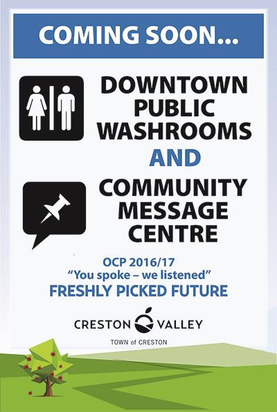 Downtown Washroom-Opening Soon Sign-May 2