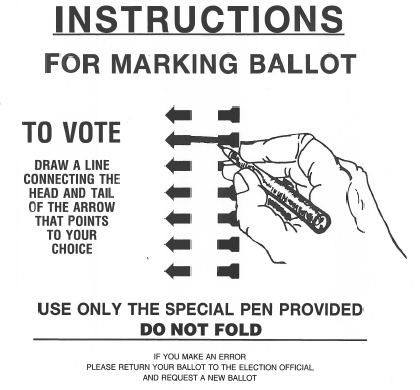 Instructions for Marking Ballots