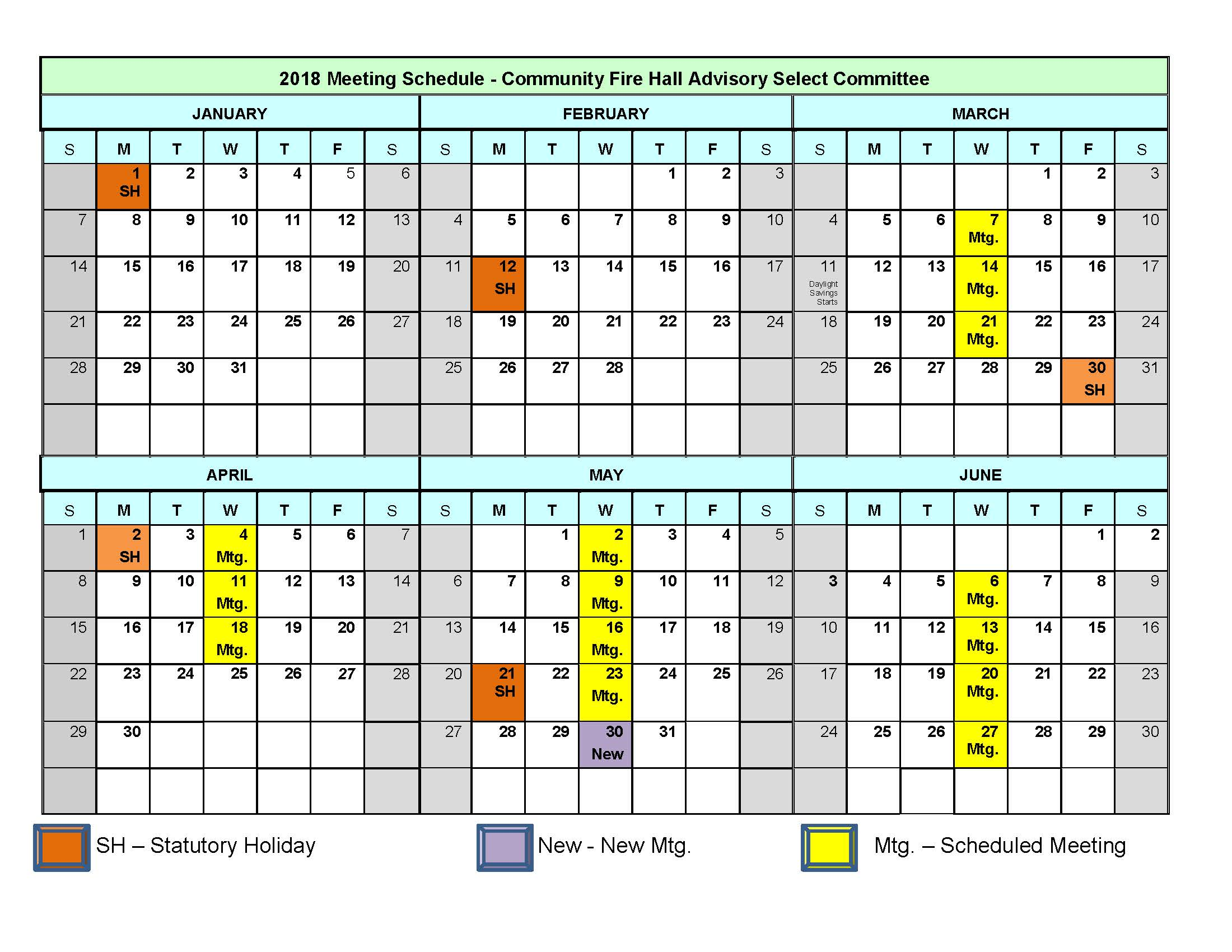 2018 Meeting Calendar_updated May25